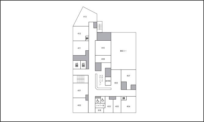 4階のフロアマップ