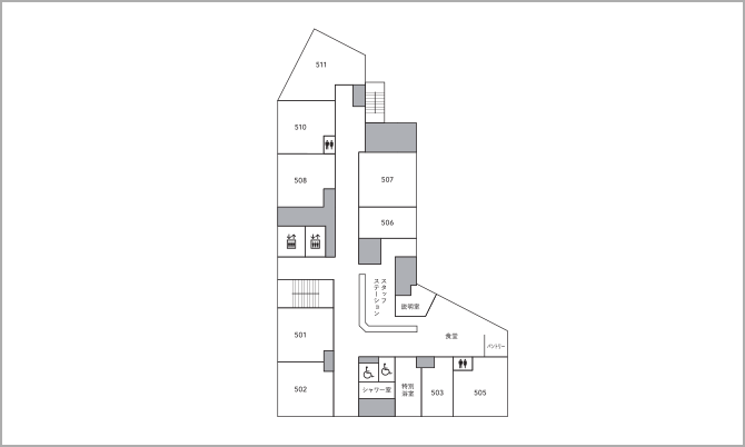 5階のフロアマップ