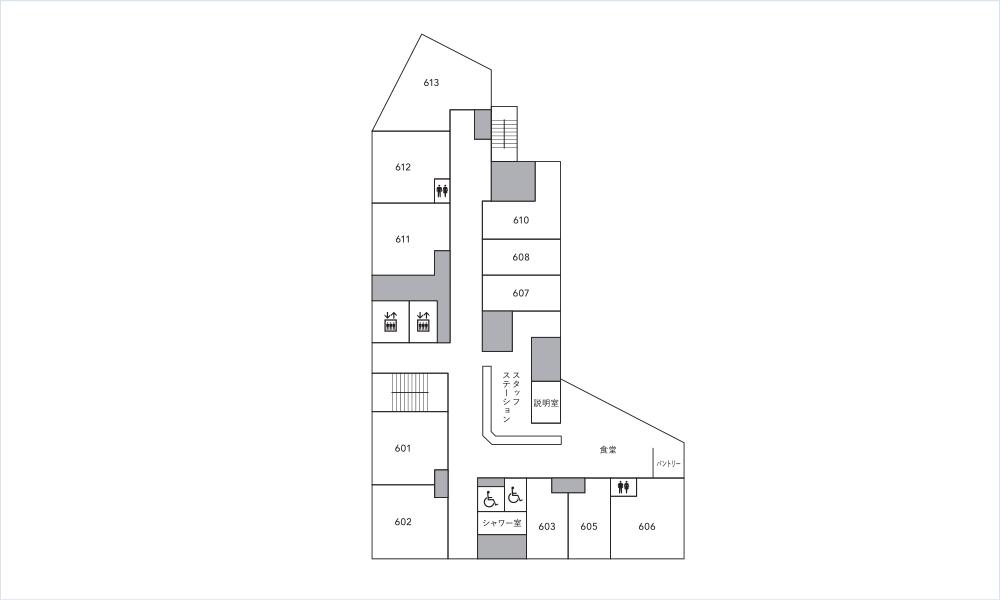 6階のフロアマップ